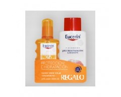 EUCERIN SPRAY SOLAR SPF 50+ TRANSPARENTE 200 ML + REGALO DE LOCION HIDRATANTE 200 ML