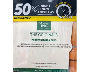 MARTIDERM PROTEOGLICANOS HYDRA PLUS 30 AMP + NIGHT RENEW 10 AMP