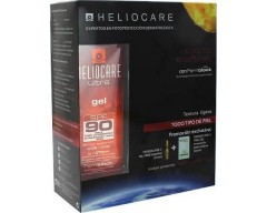 HELIOCARE ULTRA GEL SPF 90 + TRATAMIENTO  ANTIEDAD (Endocare -C PEEL GEL + Endocare-C oil free ampollas)